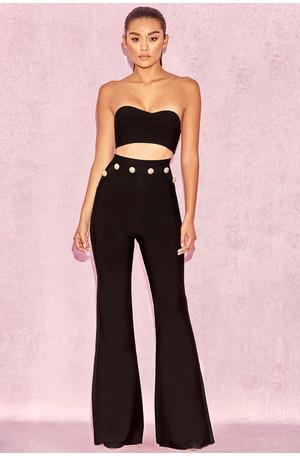 Bardot Black High Waist Bandage Trousers