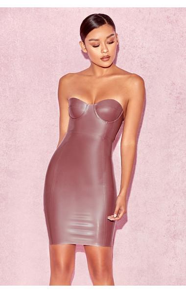 Alcina Electric Rose Latex Bustier Dress
