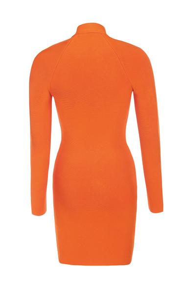 eliza dress in orange