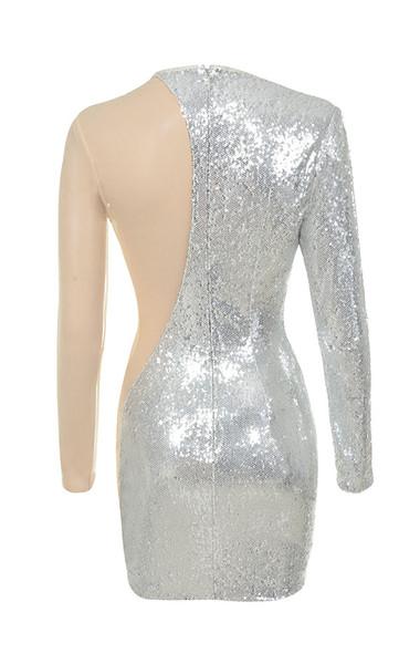 zia dress in silver
