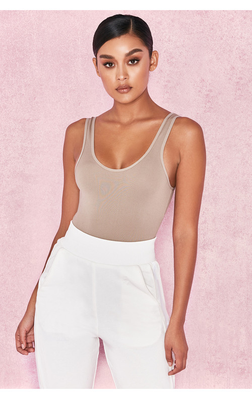 Luca Taupe Seamless Knit Stretch Bodysuit