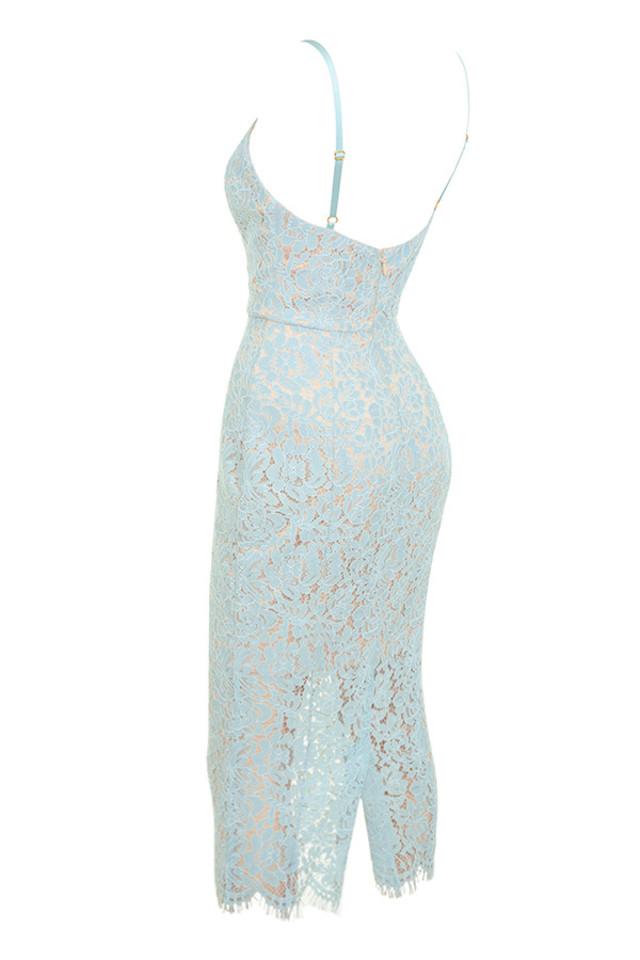 edeta dress in blue