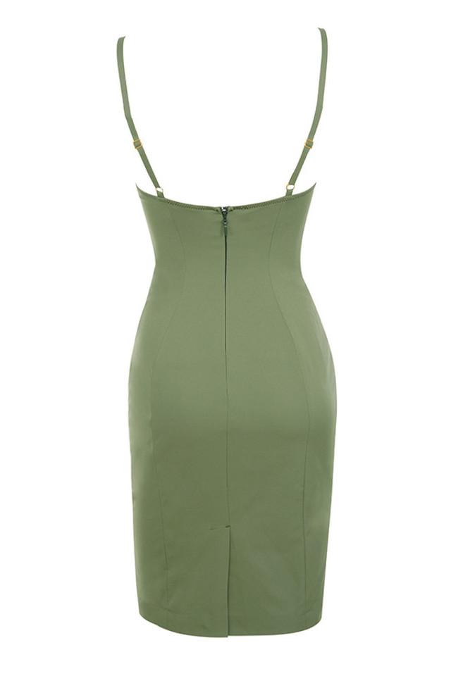 mallory dress in khaki