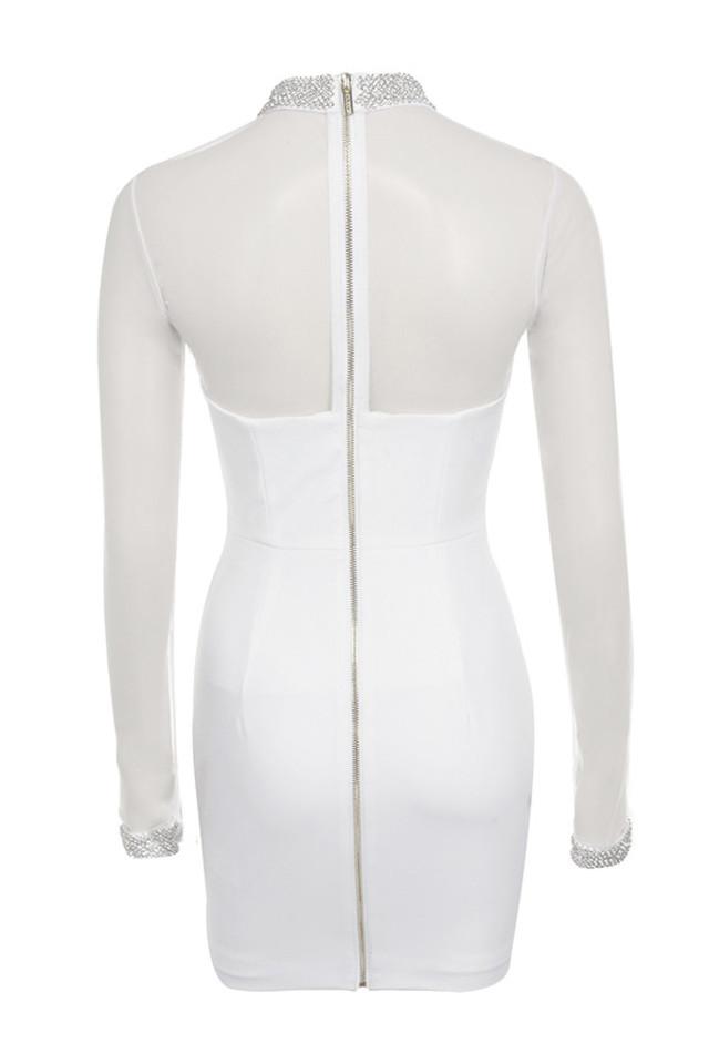 niseka dress in white