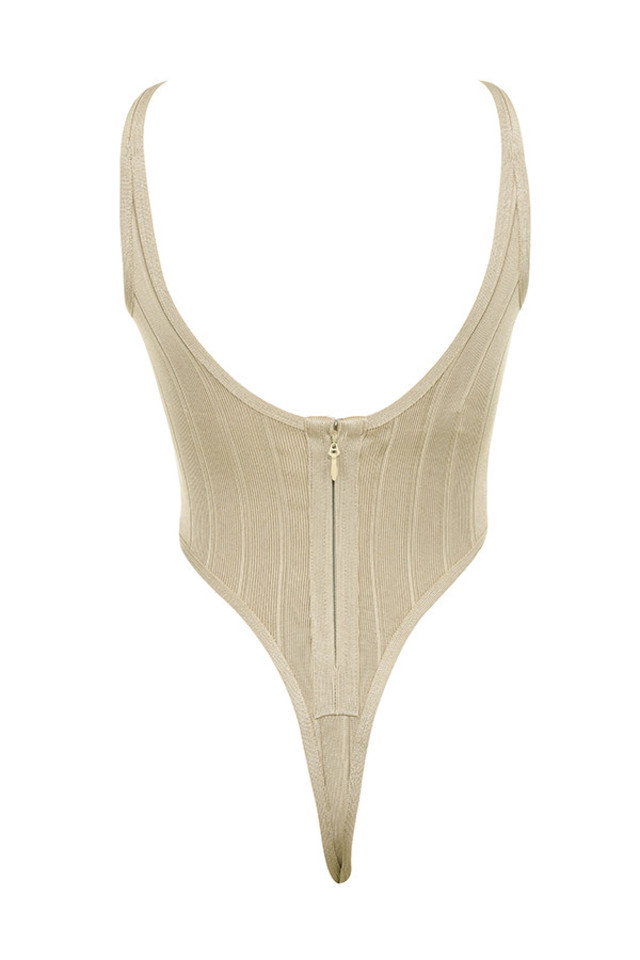 perle bodysuit in taupe