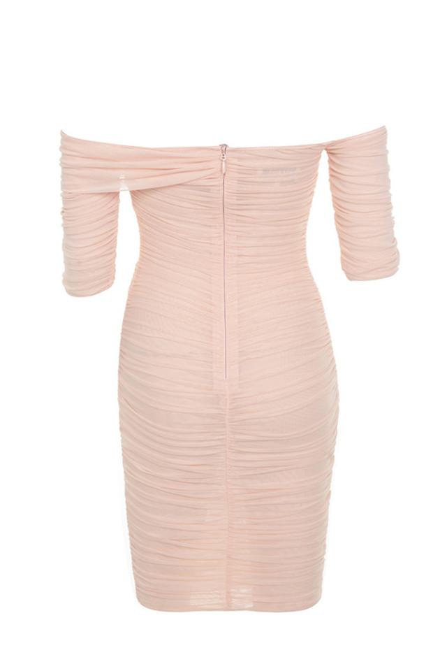 tahan dress in blush