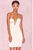 Veronique Baby Pink Satin Lace Up Mini Dress