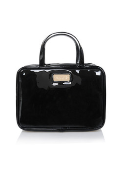 Black Patent House of CB Hanging Travel Case
