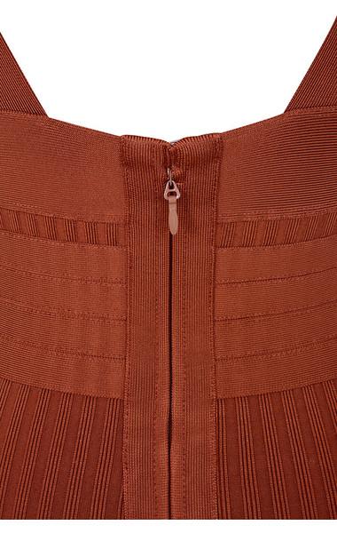 charmagne rust dress
