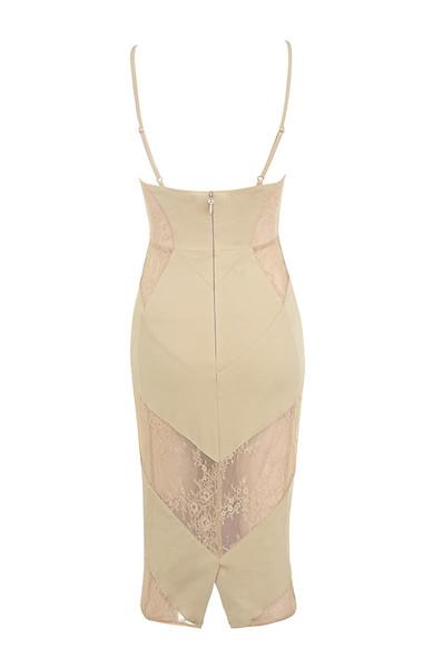 dahlia dress in nude