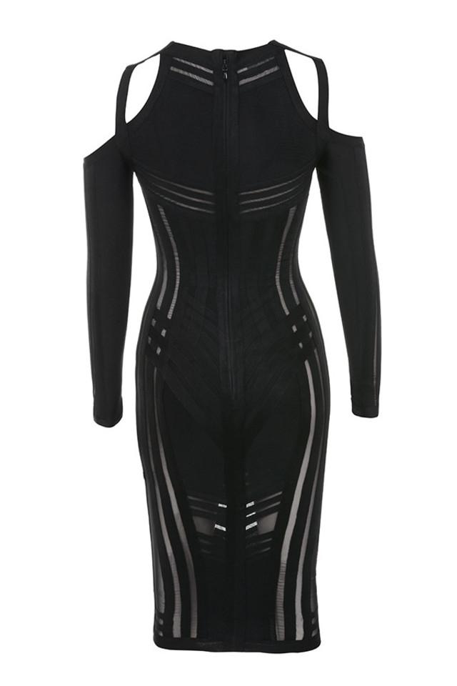 madrina dress in black