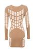 mahina dress in nude