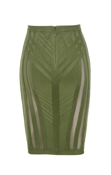 anish skirt in khaki