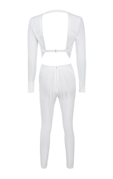 arya jumpsuit in white