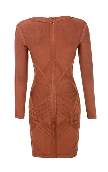 calliope dress in rust