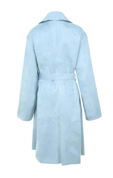kiti coat in blue