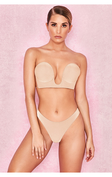 Micromodal Beige Seamless Thong