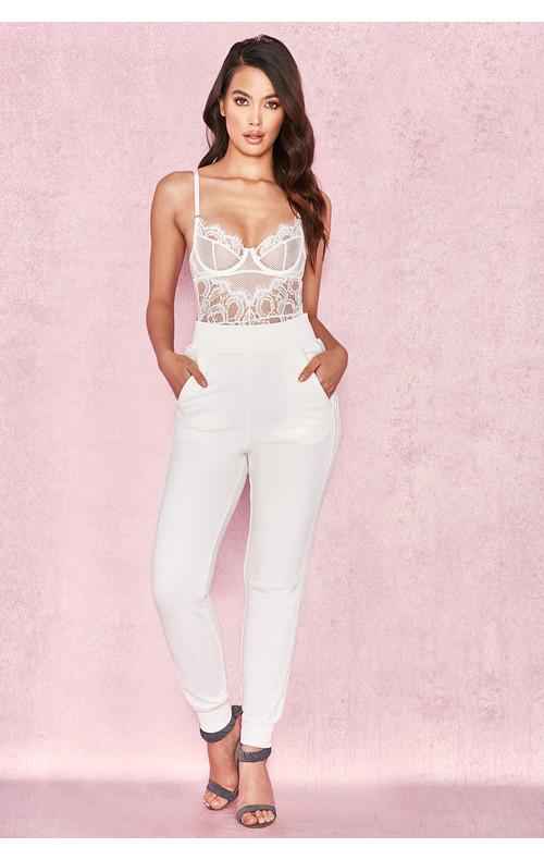 Hameca White Luxe Sweatpants