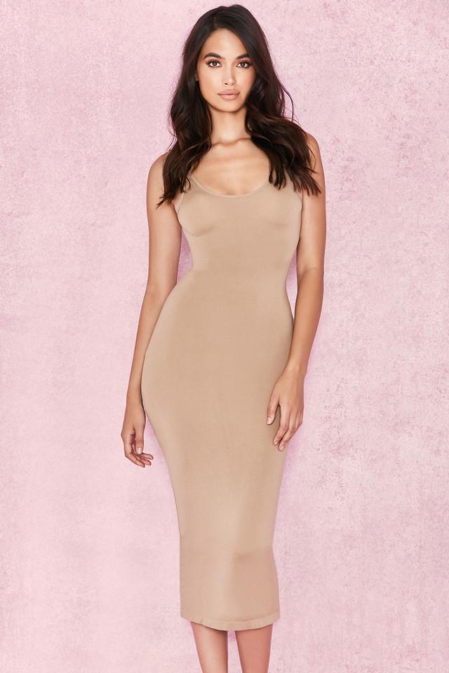 Tomlin Tan Midi Length Vest Dress