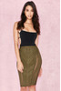 Anish Khaki Bandage Pencil Skirt