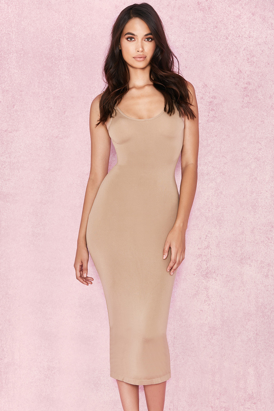 Tomlin Tan Midi Length Vest Dress