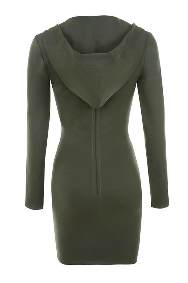 rina dress in khaki