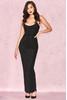 Charlotte Black Lurex Scoop Neck Maxi Dress
