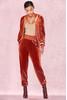 Sierra Rust Luxe Velvet Tracksuit Pants