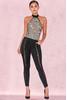 Cassandra Black Satin Lace Up Trousers