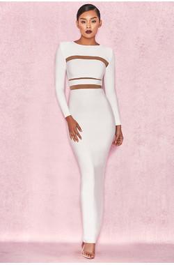 Costanza White Bandage Maxi Dress