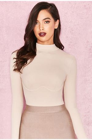Adalin Ivory Rib Knit Jersey Bodysuit