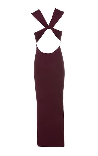 alissa dress in plum