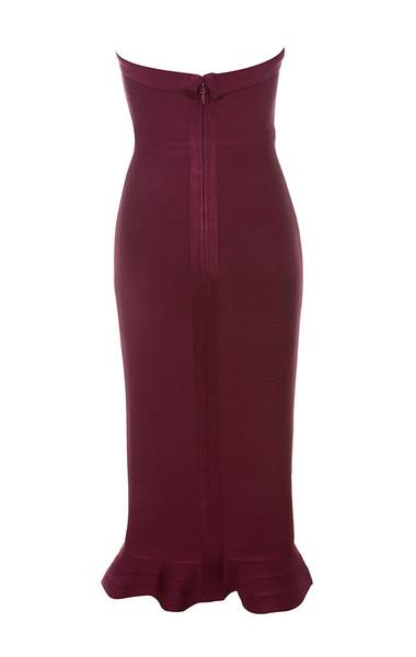 fabrizia dress in wine