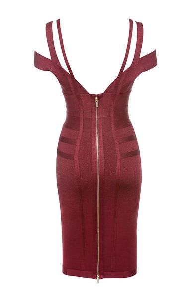 mimi dress in wine