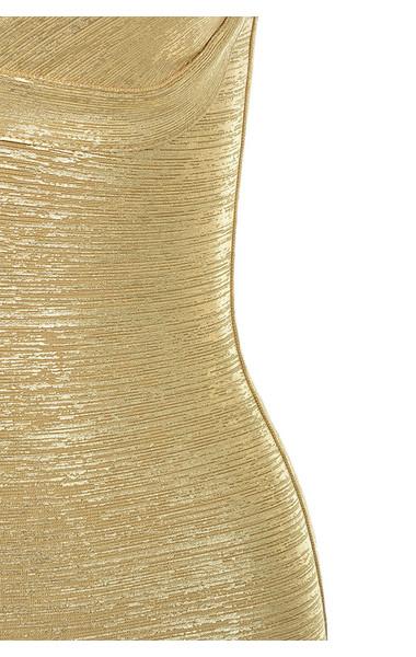 gold iman dress