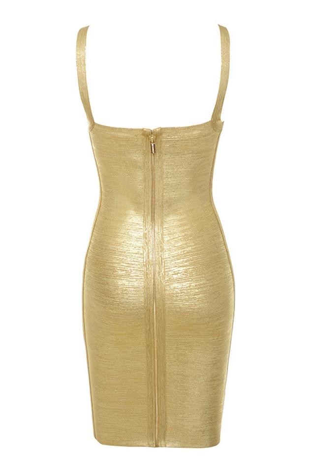 iman dress in gold