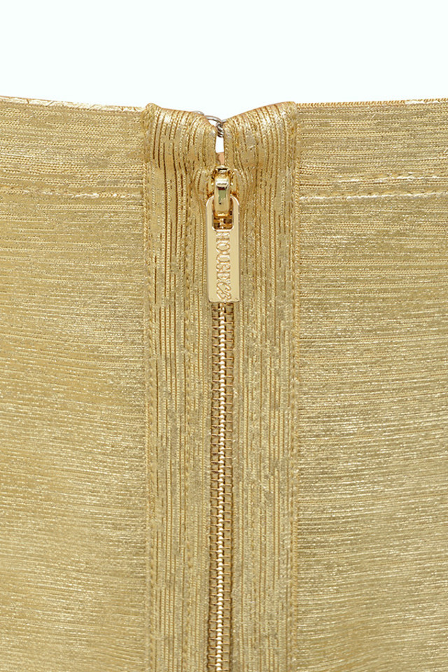iman gold dress