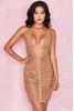 Anouk Gold Chain Drape Dress
