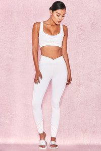Summit White Leggings with V Waistband