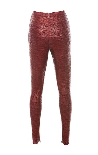 charity trousers in metallic