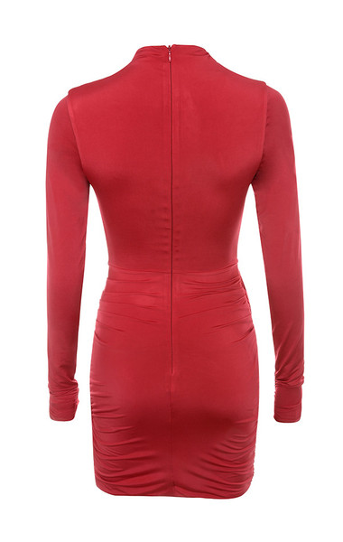 dauphine dress in red