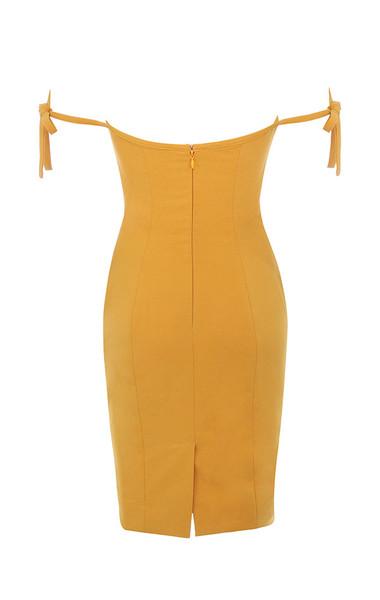 lavinia dress in mustard