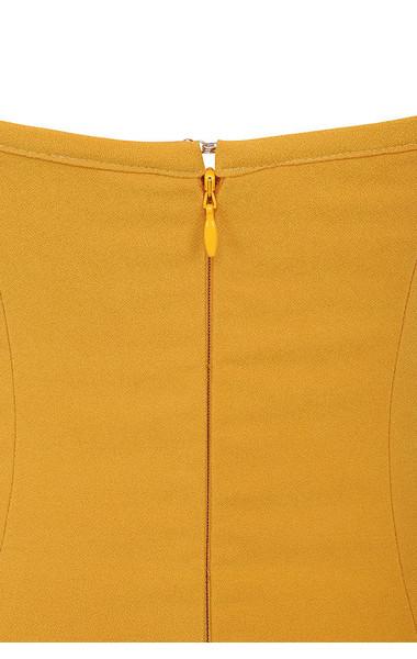 lavinia mustard dress