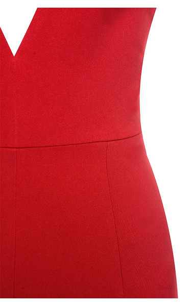 red leilah jumpsuit