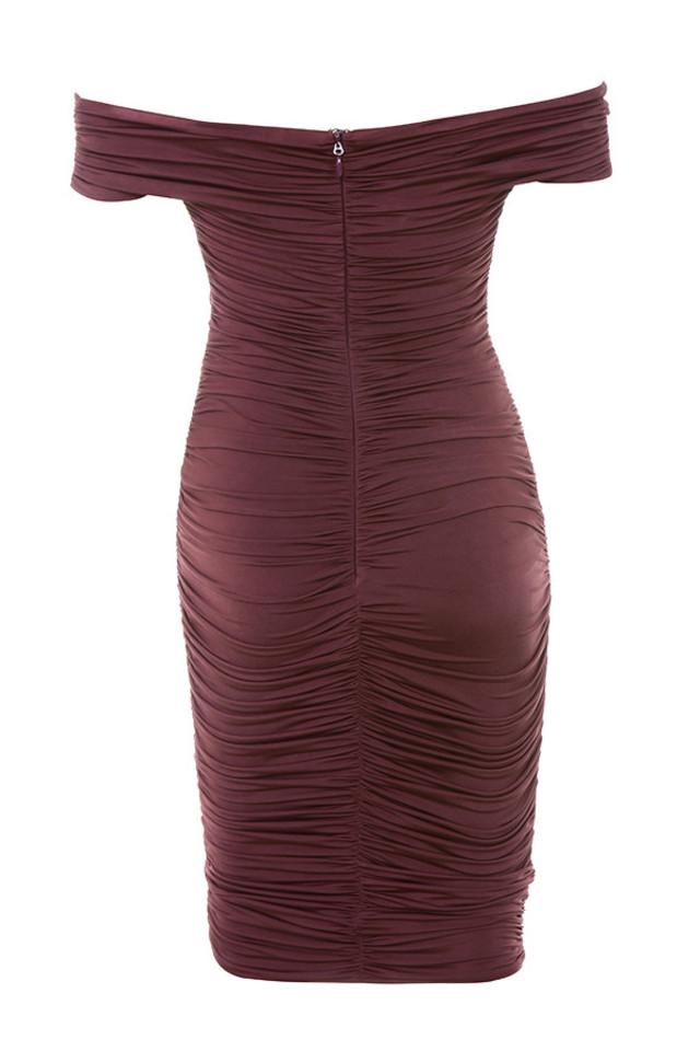 tiggy dress in wine