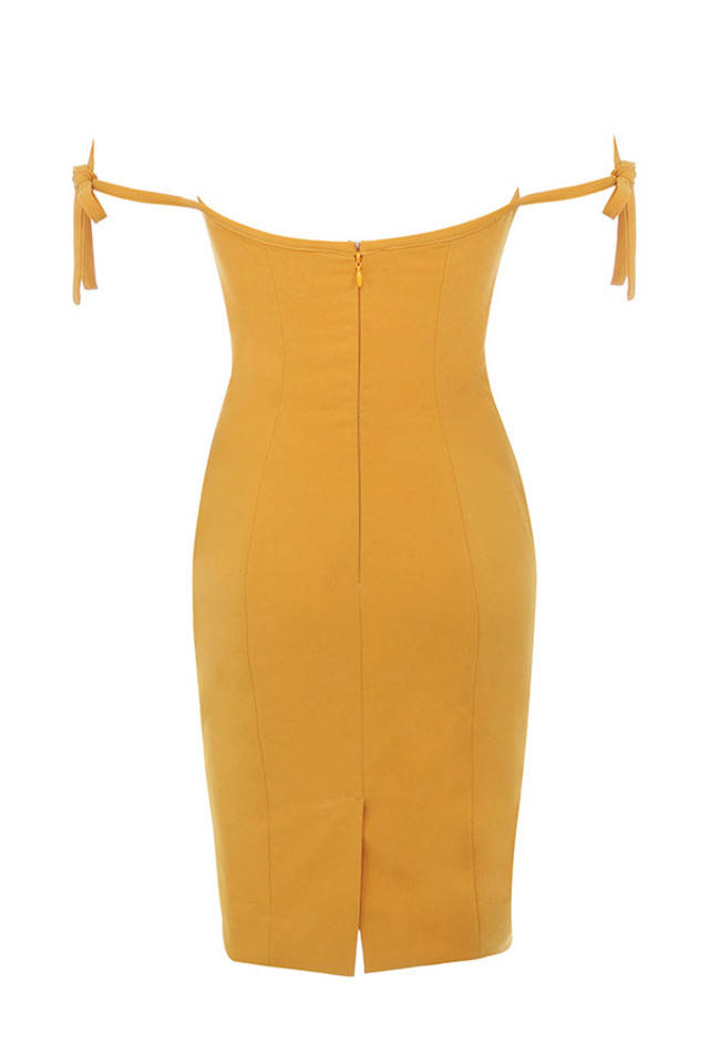 lavinia dress in mustard
