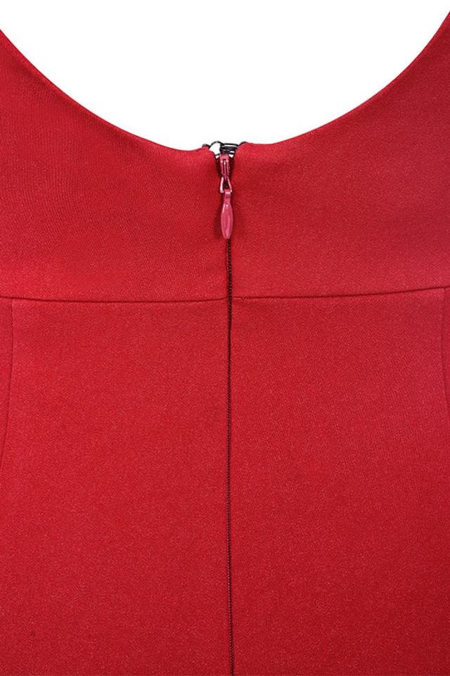 leilah red jumpsuit