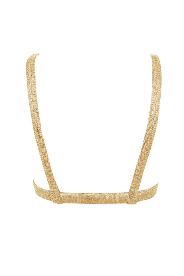 magda top in gold