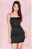 Tosci Black Satin Slip Dress