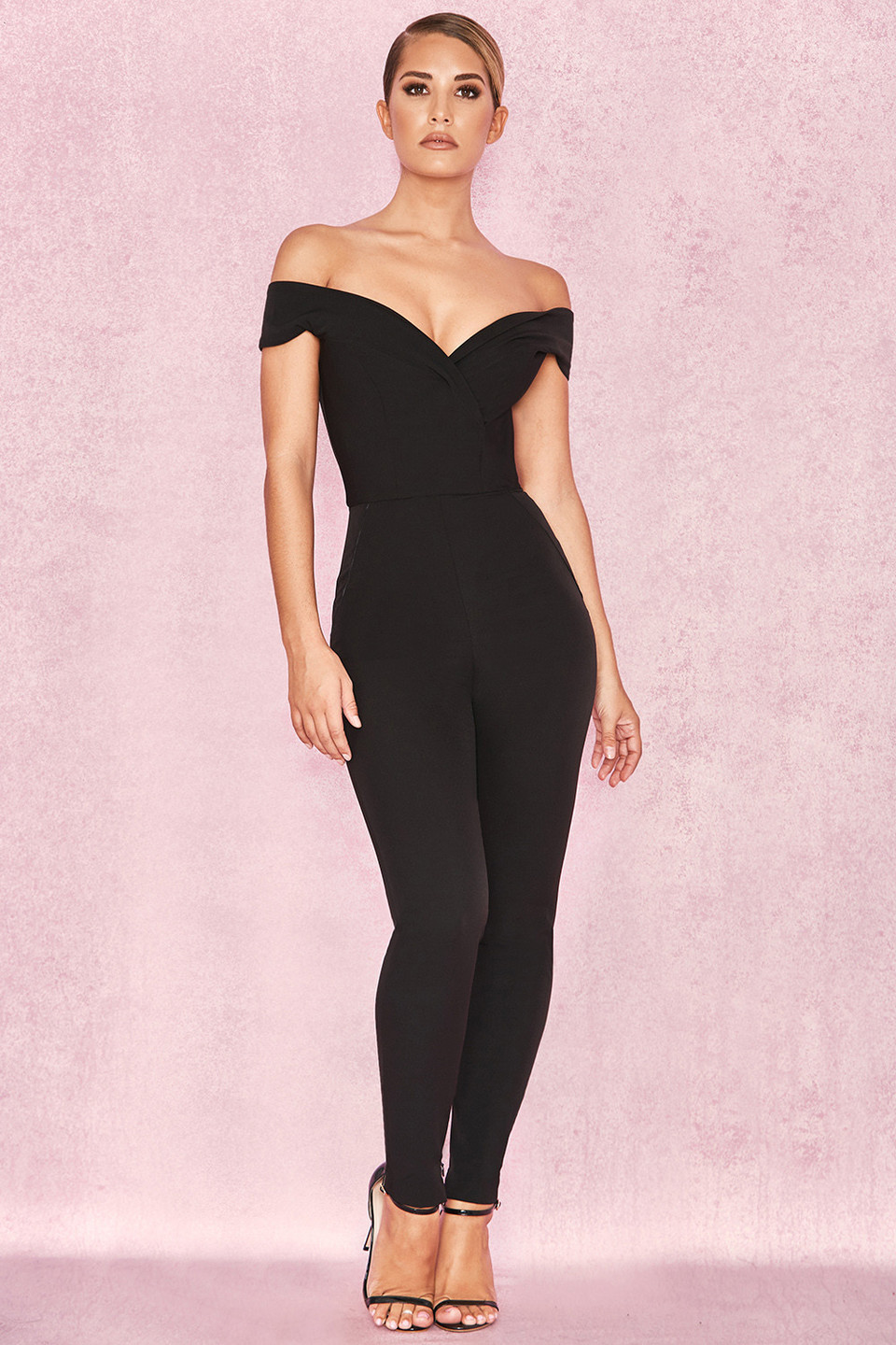 Bella Black Off Shoulder Jumpsuit